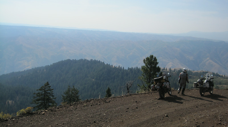 Coming down Hess Road into Hells Canyon