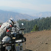 Diego checking my GPS on Hess Road into Hells Canyon