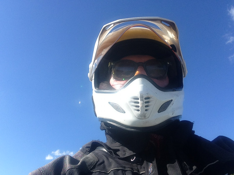 Selfie riding across northern Nebraska
