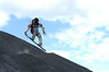 JBECK_NICA_DSC_0082: The author riding down the active volcano known as Cerro Negro.