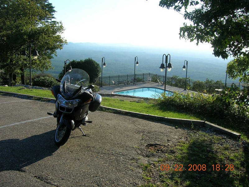 Cheaha State Lodge.  Nosed the bike in at first and almost didtn't get it backed up.