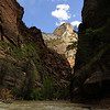 Beginning of the Narrows in Zion National Park