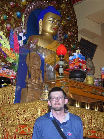 my brother in the temple of the Dalai Lama
