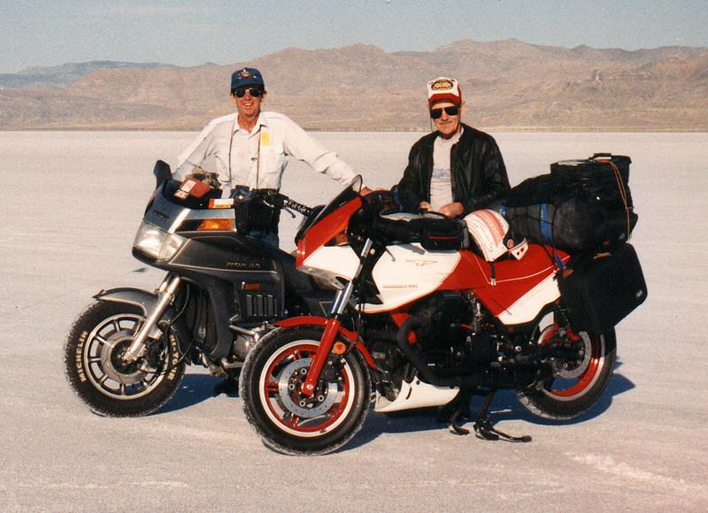 Ward Hogue and I at Speedweek, 1990