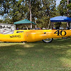 "The Sam Wheeler Norton Streamliner. In 1970 ran a record 208.747 mph on gas. <br /> Shown At the NTNOA 'Lake O' the Pines Rallye', Oct 03,2009<br /> This Beautiful, Newly Restored Bike, is being shipped to the British Motorcycle Museum in England immediately following the Rallye. <br /> Keith Martin's ""Big D Cycle"" of Dallas, did the Restoration."
