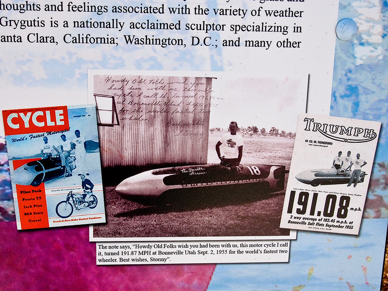 Stormy and his Streamliner, as pictured in the memorial on the Plaza <br /> 03-13-10