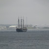 Sailboat entering Halifax harbor