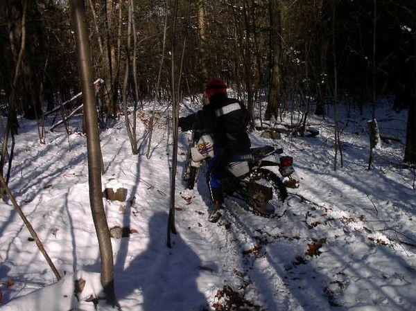 John in the woods behind Hensleys  Nov, 04