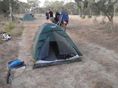 Camping beside the raod
