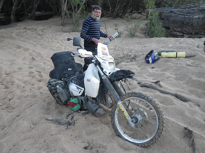 Marty bogged in the sand