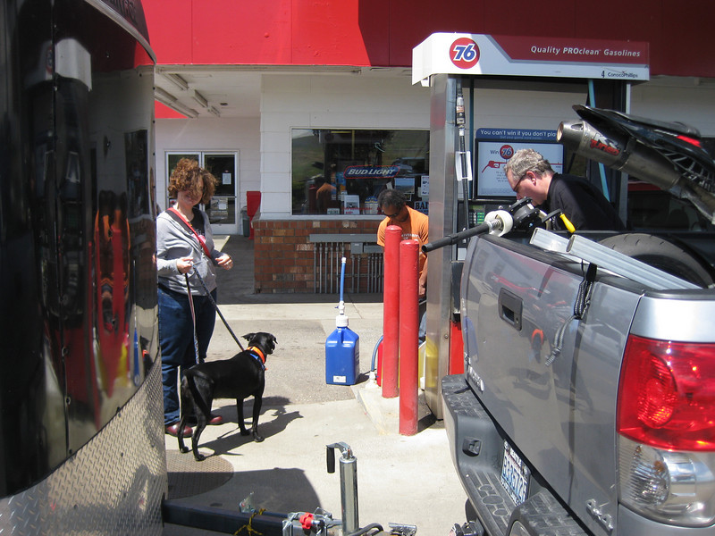 Gassing up.