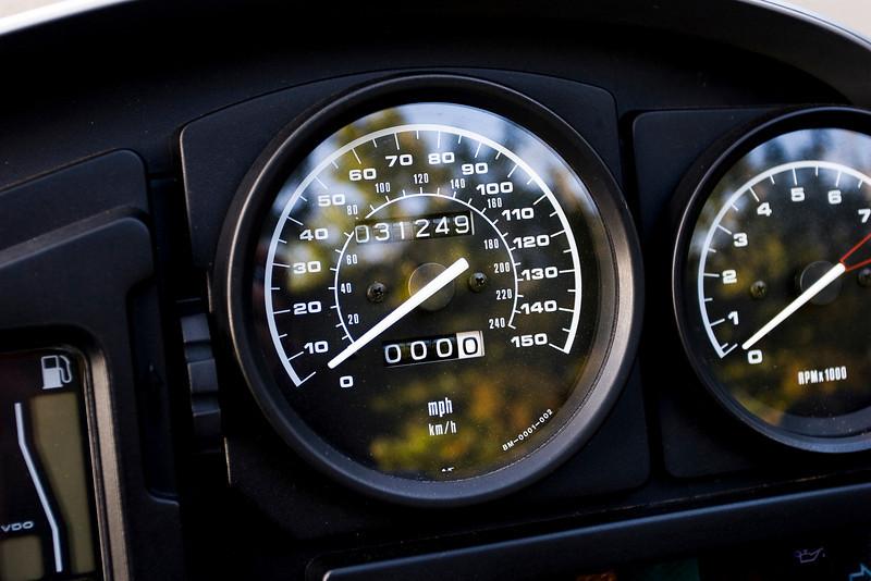 Trip odometer set to zero.