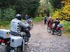 A good mix of bikes:<br /> Rob - KTM 640<br /> Gabriele - Dakar 650 <br /> Brent - XR650L<br /> Jerry - KLR650<br /> Bruce - 1150GS <br /> Clif (me) - RXV550