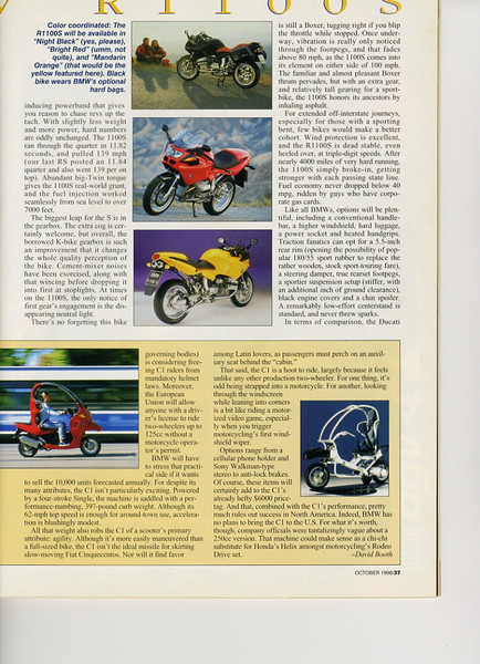 October 1998 Cycle World