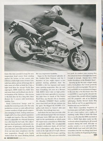October 1998 Motorcyclist R1100S