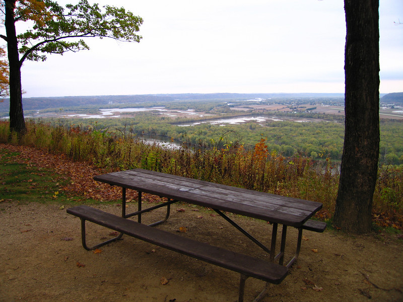 Campsite overlook at Wyalusing State Park
