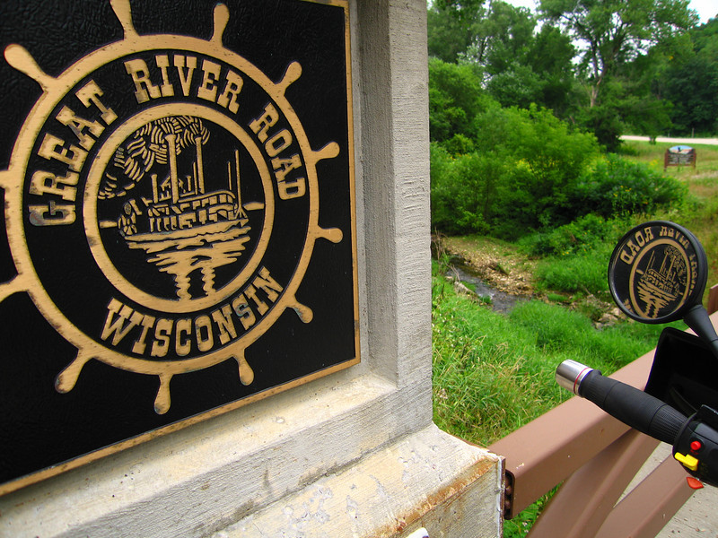 Cty C, you will view this beautiful commemorative bridge built by the state of Wisconsin to honor The Great River Road