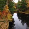 Clark county Wisconsin Rock Dam Park Fall <br /> <br /> The water is rich in iron resulting in a dark red-blue hue.
