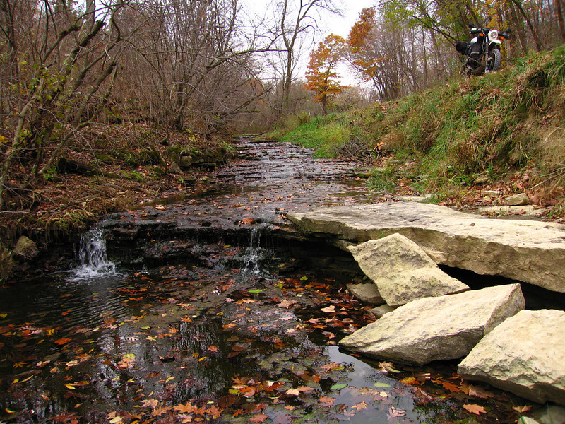 """The same small creek on a overcast day in Autumn Located on one of the many """"Hollow Roads"""" in Grant County, Wisconsin"""
