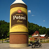 "World's Largest Cone-Top Beer Can <br /> <br /> Potosi Brewery, which closed down in 1972 after 120 years of operation. In June 2004, the American Breweriana Association selected the brewery to house its national museum, beating out both Milwaukee and St Louis.<br /> <br /> Potosi is also home to the world's longest main street (three miles) without an adjoining intersection!!! ""Noted in ""Ripley's Believe It or Not"" <br /> <br /> The name ""potosi"" means ""lead"" in Spanish."