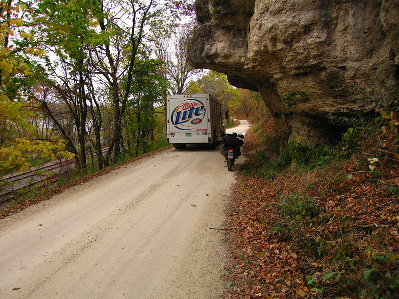 """Miller Time"" at the overhang on Dugway Road in Grant County Wisconsin"