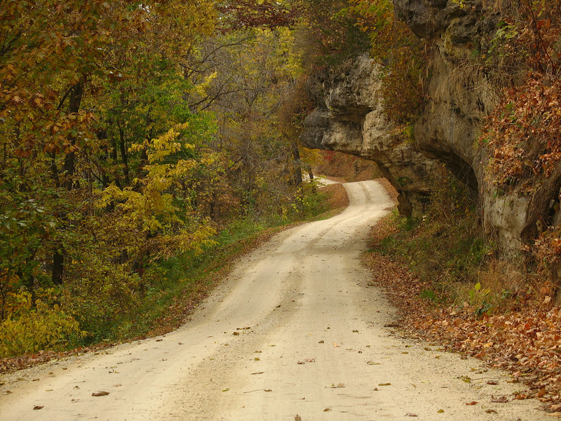 The overhang on Dugway Road in Grant County Wisconsin