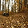 A few of the turns on the Perkinstown ATV Trail have high bank. Fall 2008 Trans Wisconsin Adventure Trail