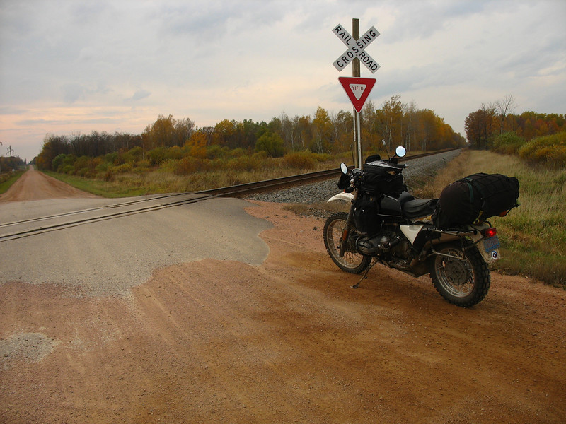 I rode some nice country roads from Perkinstown down to Marshfield, at which time I jump on HWY 10 for the last 100 miles of pavement. Fall 2008 Trans Wisconsin Adventure Trail