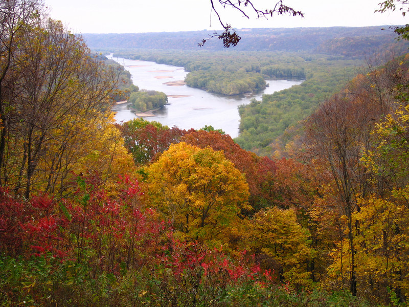 Wyalusing State Park which is at the confluence of the Wisconsin and Mississippi Rivers<br /> <br /> Joliet and Marquette first entered the Mississippi in 1673