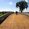 Wood Bridge with gravel