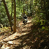 Mark on his 73 R75/5, tearing up the single track.