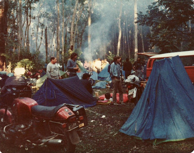 Rainforest rally camping