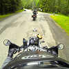 Following Shawn to the Olympic National Park entrance.  GoPro Image.