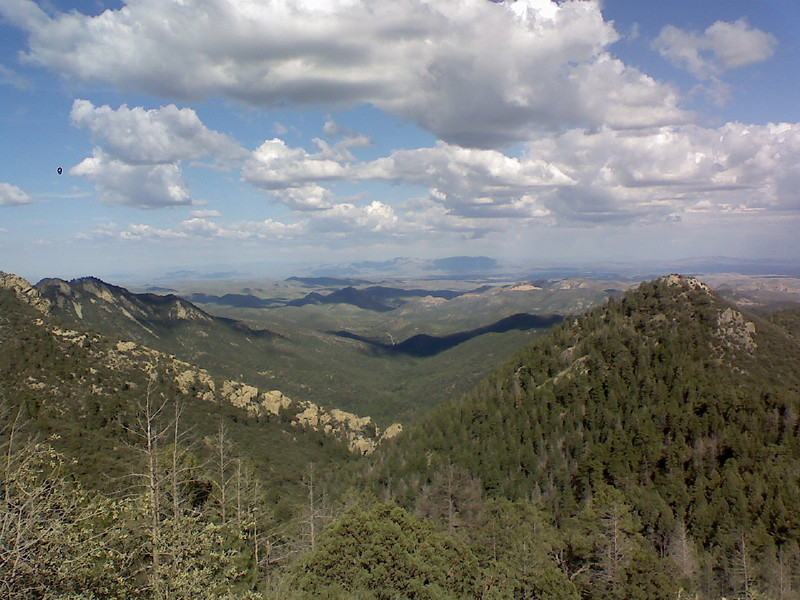 View from the top of the Black Range