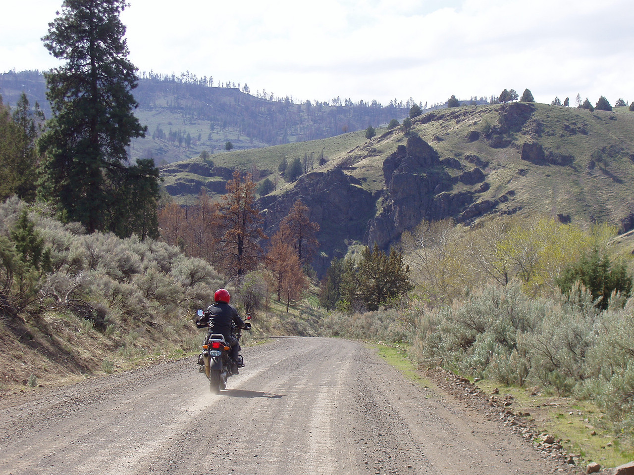 This whole series is riding up the John Day river Canyon south out of Dayville.