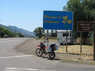 """....of course, the big """"Welcome to California"""" sign is another clue..."""