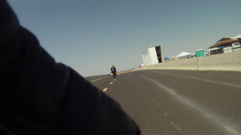 GoPro Vid of Me by Dru Martin (Thanks Dru).  Dru's a much faster rider than I am, so he didn't have trouble keeping up with me.  He rides a Triumph 675 that handles really well.  I have a hard time seeing vid of myself, always so much I should be doing better...
