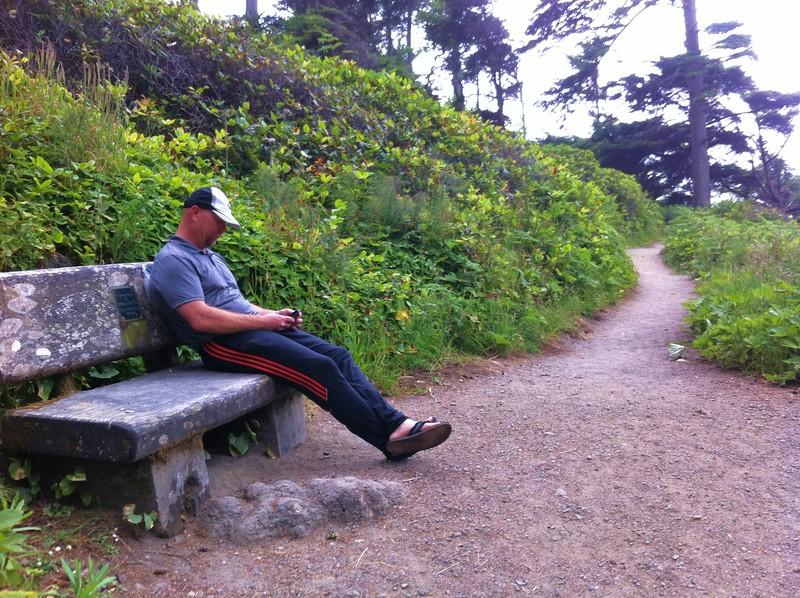 Hiking trail to Agate Beach, Patricks Point, CA