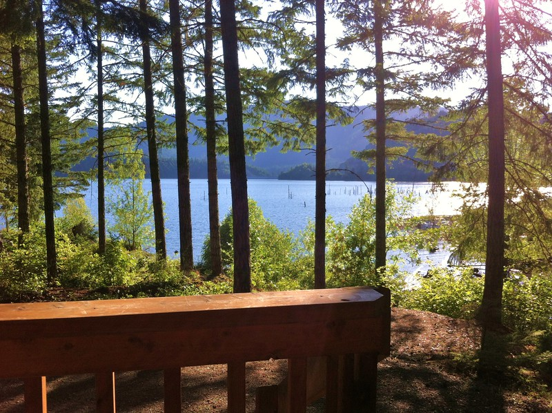 The view from our Camping cabin at Galesville Reservoir, OR
