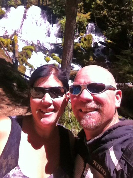 Selfie at Clearwater Falls, OR