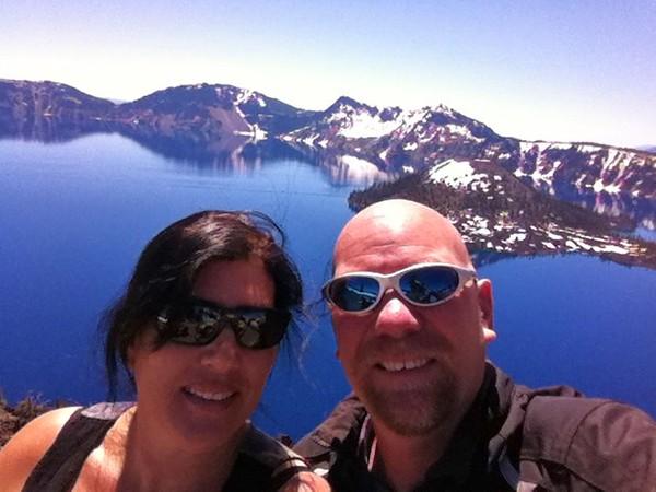 Selfie at Crater Lake, OR