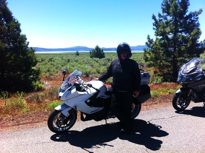 Taking a break at Eagle Lake, CA
