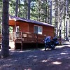 Camping cabin at Galesville Reservoir, OR