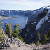 The east rim of Crater Lake.