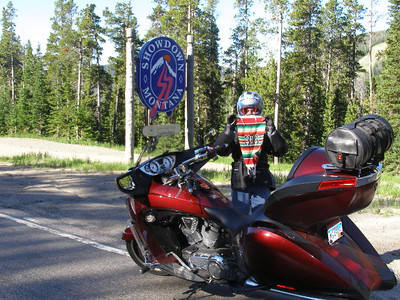 "The ""Showdown Montana"" sign marks the midpoint of the Kings Hill Scenic Byway. Intersection US-89 and Showdown Rd. Take a photo of your motorcycle in front of the Showdown Montana sign."