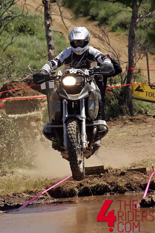 bmw gs jump jumping into water mud crossing