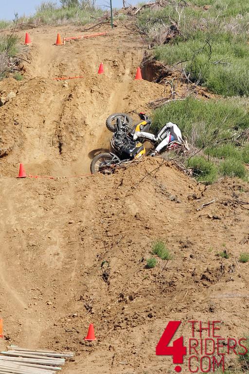 bmw gs crashing going down hill