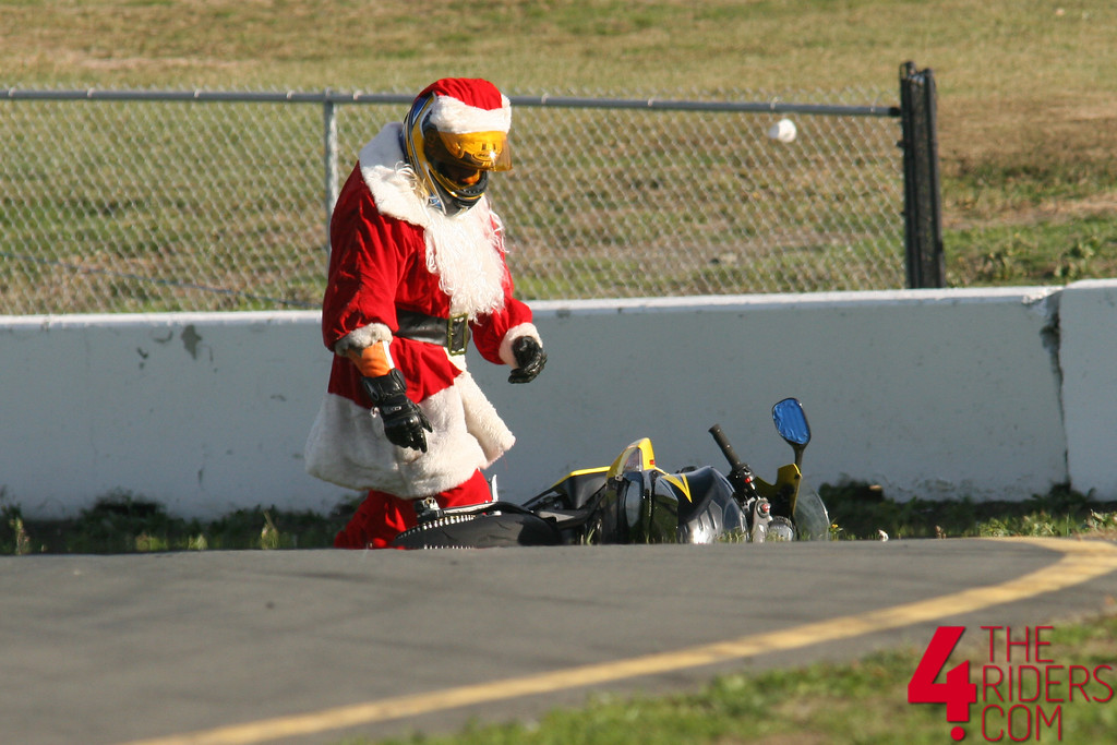santa motorcycle crash