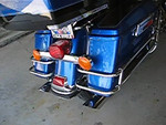 """Rush pipes with 2.0"""" baffles, stock engine, stage 1.<br />           CLICK ON THE PICTURE"""