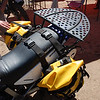 """The new Rugged Rider,  <a href=""""http://www.ruggedrider.com"""">http://www.ruggedrider.com</a> , DR Rack on the Suzuki DR650 of Eric Hougan/Wolfman,  <a href=""""http://www.wolfmanluggage.com"""">http://www.wolfmanluggage.com</a> ."""